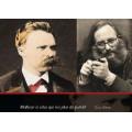 Vingt-deux cartes postales et citations de Nietzsche et VLB